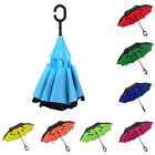 Windproof Double Layer Umbrella Inside-Out Reverse Folding Self Stand C-Handle
