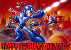 MEGAMAN Mega Man Computer Game Superhero Space Birthday Party Cake icing sheet