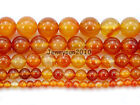Red Carnelian Natural Agate Gemstone Round Beads 15.5'' 4mm 6mm 8mm 10mm 12mm