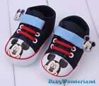 Mickey Mouse Boys Baby Shoes Prewalkers Size 0-6m,6-12m,12-18m