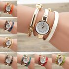 New Women's Fashion Ladies Faux Leather Rhinestone Analog Quartz Wrist Watches
