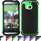 Shockproof Impact Heavy Duty Rugged Hybrid Armor Htc One M8 Case Cover