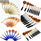 10Pc/Set Toothbrush Shape Oval Makeup Brush Face Powder Foundation Multi-Colors