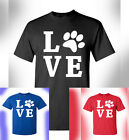 Peace Love Dog Cat Animal Lover T-Shirt PETA Love Rescue Rights Pet Adopt