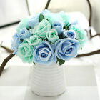 High Quality 9 Head Real Touch Latex Rose Flowers For wedding Bouquet Decor +