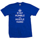 Stay Humble and Hustle Hard T-Shirt - Motivation Inspiration - All Size & Colors image