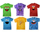 Oscar,Count,Cookie,Elmo,Big Bird,Zoe,Abby,Grover Tie Dye T-Shirt Kids And Adult