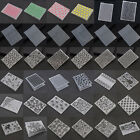 2cm squared paper - Plastic Embossing Folder Template DIY Scrapbook  Paper Craft Various Pattern