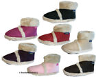 Womens Ladies Coolers Furry Ankle Boot Bootee Slippers Sizes 3 - 8