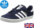 Boy's adidas Gazelle 2 Trainers Suede Junior Sports Footwear Shoes BRAND NEW