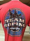 New Mens Western Wrangler Team Roping T-Shirts Red