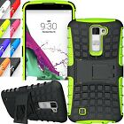Shockproof Rugged Hybrid Slim Armor LG K10/Premier LTE Kick Stand Case Cover