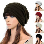 Womens Lady Fashion Winter Warm Girls Casual Knitted Hat and Scarf Set Skullcaps