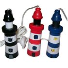 Brand New Seaside Nautical Wooden Lighthouse Cord Pull Gift