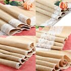 "12 X 96"" Burlap Lace Table Runner Natural Jute Rustic Wedding Decoration New"