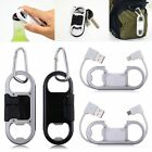 Micro USB 8pin 2.1A Charging Sync Cable Cord+Opener+Key Chain For iPhone Samsung