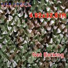 Woodland Camouflage Netting Military Army Camo Hunting Shooting Hide Cover NetBlind & Tree Stand Accessories - 177912