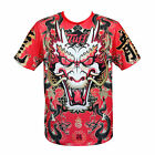 TUFF Muay Thai Boxing Training T-Shirt Tee Top King of Dragon in Red TUF-TS005