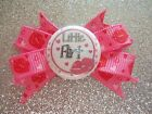 """2"""" Mini Boutique Dog Bow~Valentine's Day~Little Flirt~Pink~Lips Hearts~Girl"""