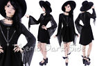 Restyle Coven Witch Vampire Harness Black Nu Goth Mesh Long Sleeve Tunic Dress