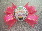 """2"""" Mini Boutique Dog Bow~St. Patrick's Day~Little Lassie~Pink & Green~Girl"""