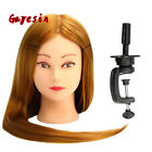 "Practice Training Head 28"" Gold Hair Model Hairdressing Mannequin Doll Manikin"