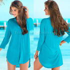 Fashion Women's Ladies Casual Blouse Loose 3/4 Sleeve Tops Beach Dress