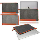 Felt Tan Leather Sleeve Cover Bag Carrying Case for NEW 2016 Apple MacBook PRO