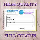 PERSONALISED A6 RECEIPT BOOKS / DUPLICATE / NCR, 50 SETS / PAD