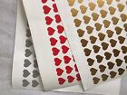 80 Heart Shapes Wine Glass Vinyl Stickers / Decal Party Wedding Valentines
