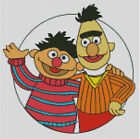 Cross stitch chart, pattern, Bert and Ernie, Sesame Street, St., Muppets