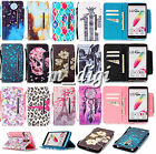 Newest Cute pattern wallet Flip Leather case cover with strap for various phone