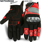 Motocross Gloves Racing MTB Off Road MX Knuckle Protection Gloves Red M-L-XL