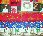 CLEARANCE CHRISTMAS #4  FABRICS Sold INDIVIDUALLY NOT AS  GROUP By the HALF YARD