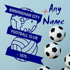 BIRMINGHAM CITY FC Football Wall Stickers Wall Art Decal PERSONALISED STICKER 78