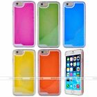 Liquid Fluorescent Luminous Quicksand Hard Phone Case Cover For iPhone 6/6s/Plus