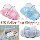 Baby Infant Foldable Mosquito Crib Travel Bed Net Tents Cotton Mattress Pillow
