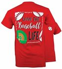 Southern Couture Preppy Vintage Baseball Life Sports Girlie Bright T Shirt