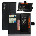 9 Colors Wallet Flip Leather Cover Case Pouch For Sony Xperia XZ