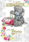 """Me To you Tatty Teddy """"GODDAUGHTER"""" Birthday Card ~ Bear with Jewellery Box"""