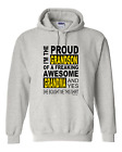 hooded Sweatshirt Hoodie I'm the proud GRANDSON freaking awesome GRANDMA