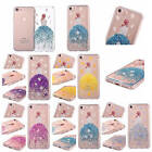 Bling Case For iPhone Real Dried Flowers Sexy Back Girl Glitter Rubber TPU Cover