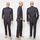 New Star Trek Into Darkness Captain Kirk Spock Grey Uniform Costume Cosplay