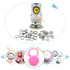 #16 Aluminum Covered Cover Bread Button Flat Back + One Tool Metal Accessories
