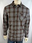 Mens RUFFIAN for THREADS & HEIRS XXL Black Plaid Button Front Shirt NWT $60