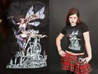 Alchemy Gothic Fitted Cotton T Shirt Steampunk Black Empire For Queen & Country