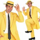 Yellow Suit Fancy Dress Costume - Mens The 1980s 80s Film Mask Outfit