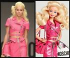 $2675 MOSCHINO Couture Jeremy Scott BARBIE Pink Leather Cropped MotoBiker Jacket