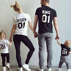 2017 Fashion Couple T-Shirt DADDY MOMMY KID BABY Shirts Family Clothes Tee Tops