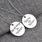'You Will Always Be My Person ,You're My Person' Silver Pendant Couple Necklace